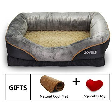 Joyelf Memory Foam Dog Bed Orthopedic Dog Bed Sofa With Rattan Cooling Mat And Squeaker Toy Orthopedic Dog Bed Memory Foam Dog Bed Dog Bed