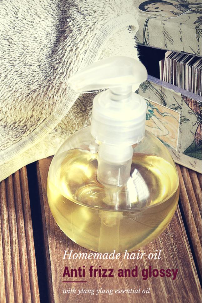 Anti frizzo homemade hair oil