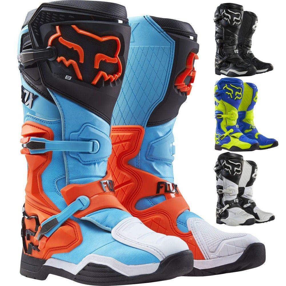 Fox Racing Comp 8 Mens Motocross Boots Orange Boots Motorcycle Boots Racing Boots