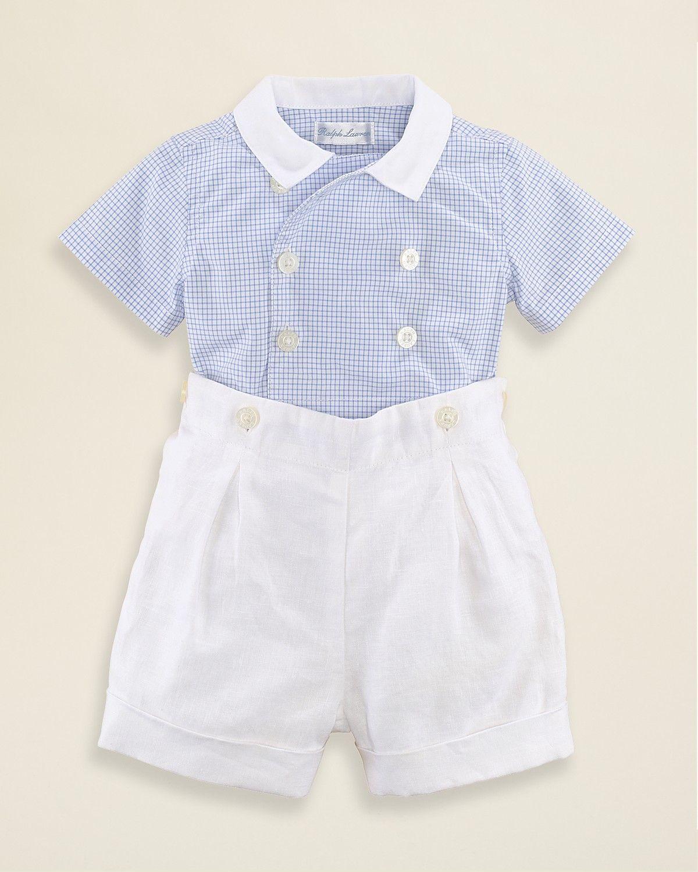 6adc90cd3489 Ralph Lauren Childrenswear Infant Boys  Woven Shirt   Short Set - Sizes 3-9  Months