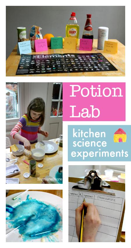 Kitchen Lab Kids easy kitchen science experiments potion lab | science experiments