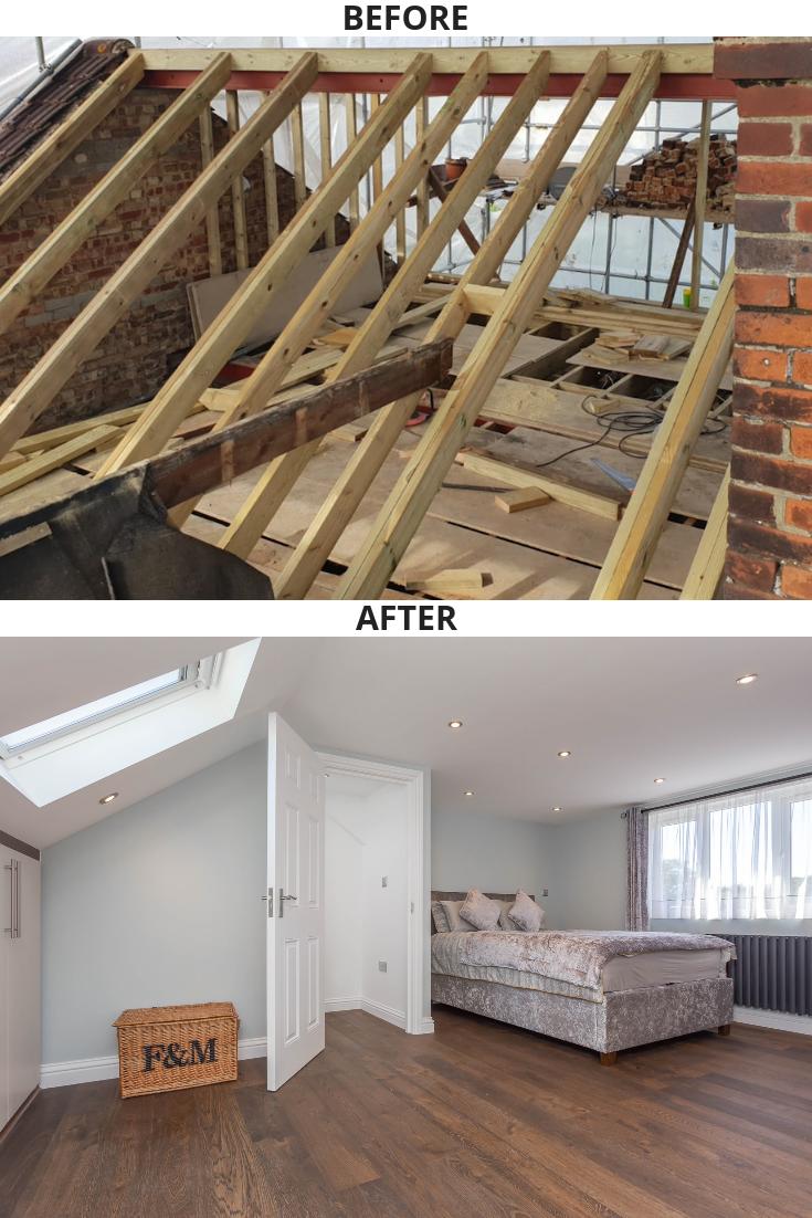 Loft Conversion In Carshalton Loft Conversion Bedroom Loft Conversion Loft Conversion Before And After