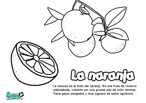 descargables educativos dibujos para colorear, la naranja ...