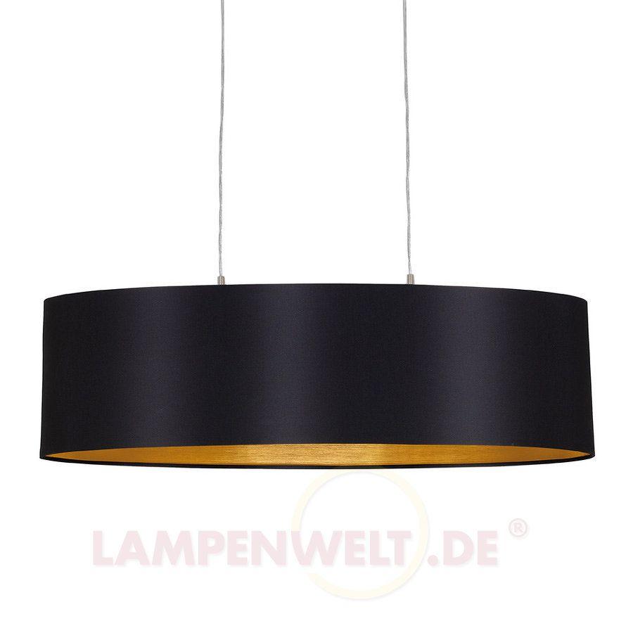 Textil h ngeleuchte lecio oval 78 cm schwarz kitchen for Pendelleuchte oval stoff