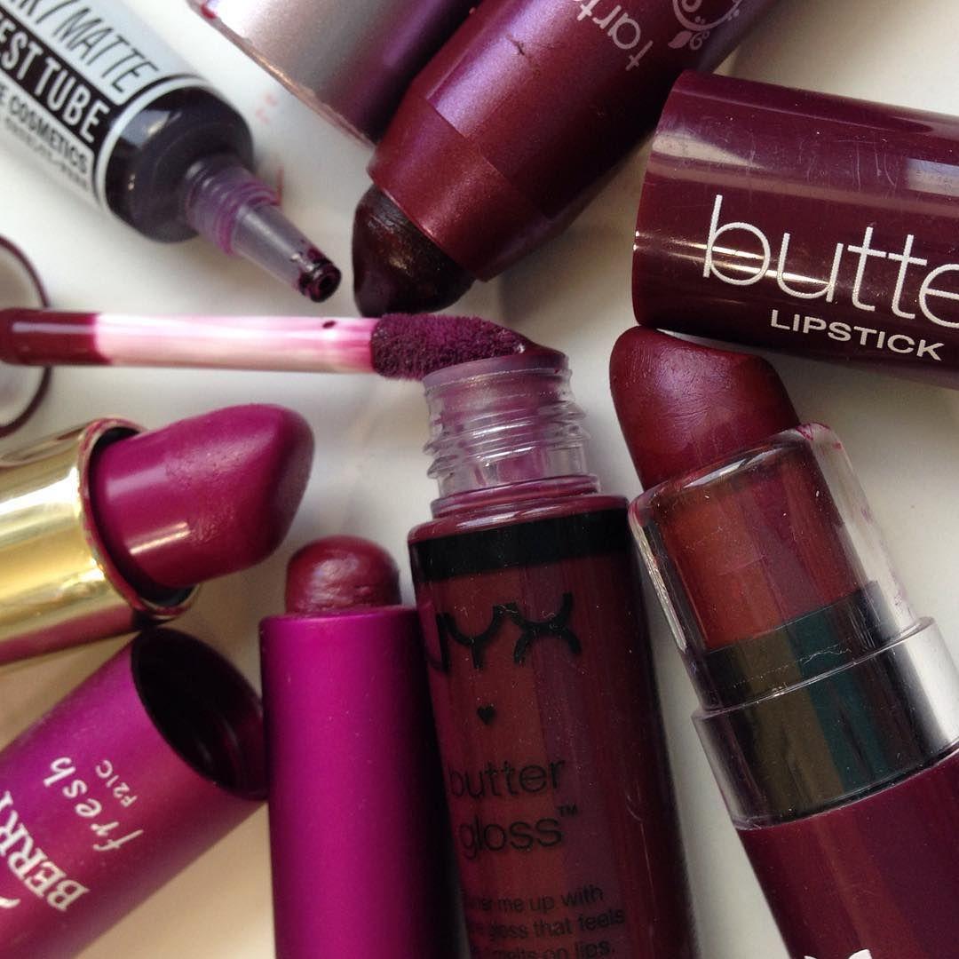 Vampy purple lipsticks