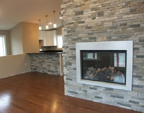 Airstone Spring Creek Available At Lowes Com Fireplaceupgrade Faux Stone Walls Faux Stone Veneer Brick Accent Walls