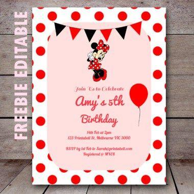 Free Editable Birthday Invitations Birthday party ideas 50th