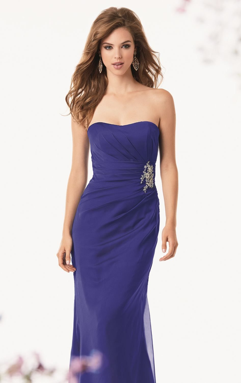 Embellished Ruched Gown by Jordan | bridesmaid dresses | Pinterest
