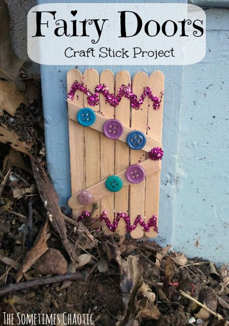 Fairy doors craft stick project craft stick projects for Make fairy door craft