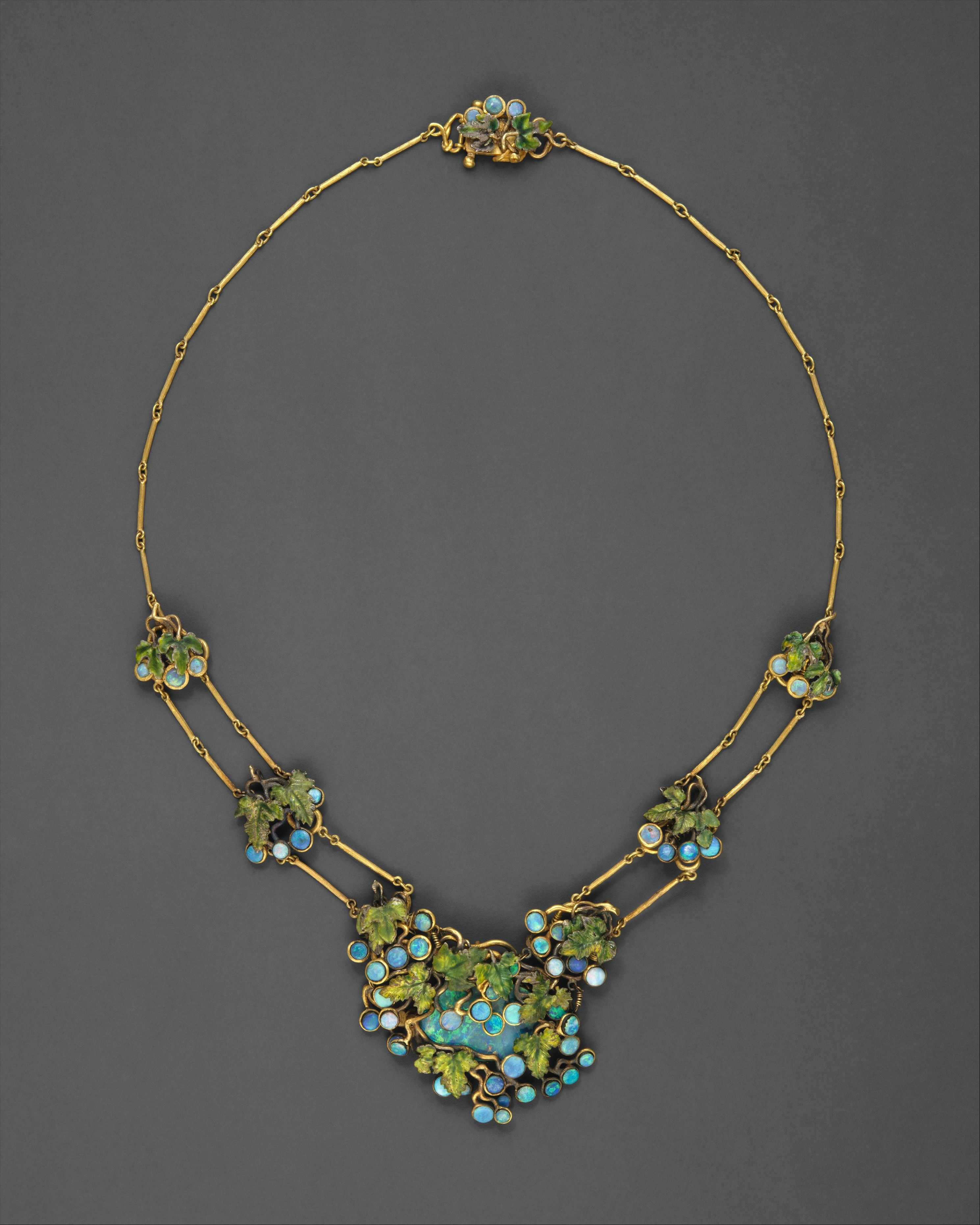 Opals, gold, enamel by Louis Comfort Tiffany