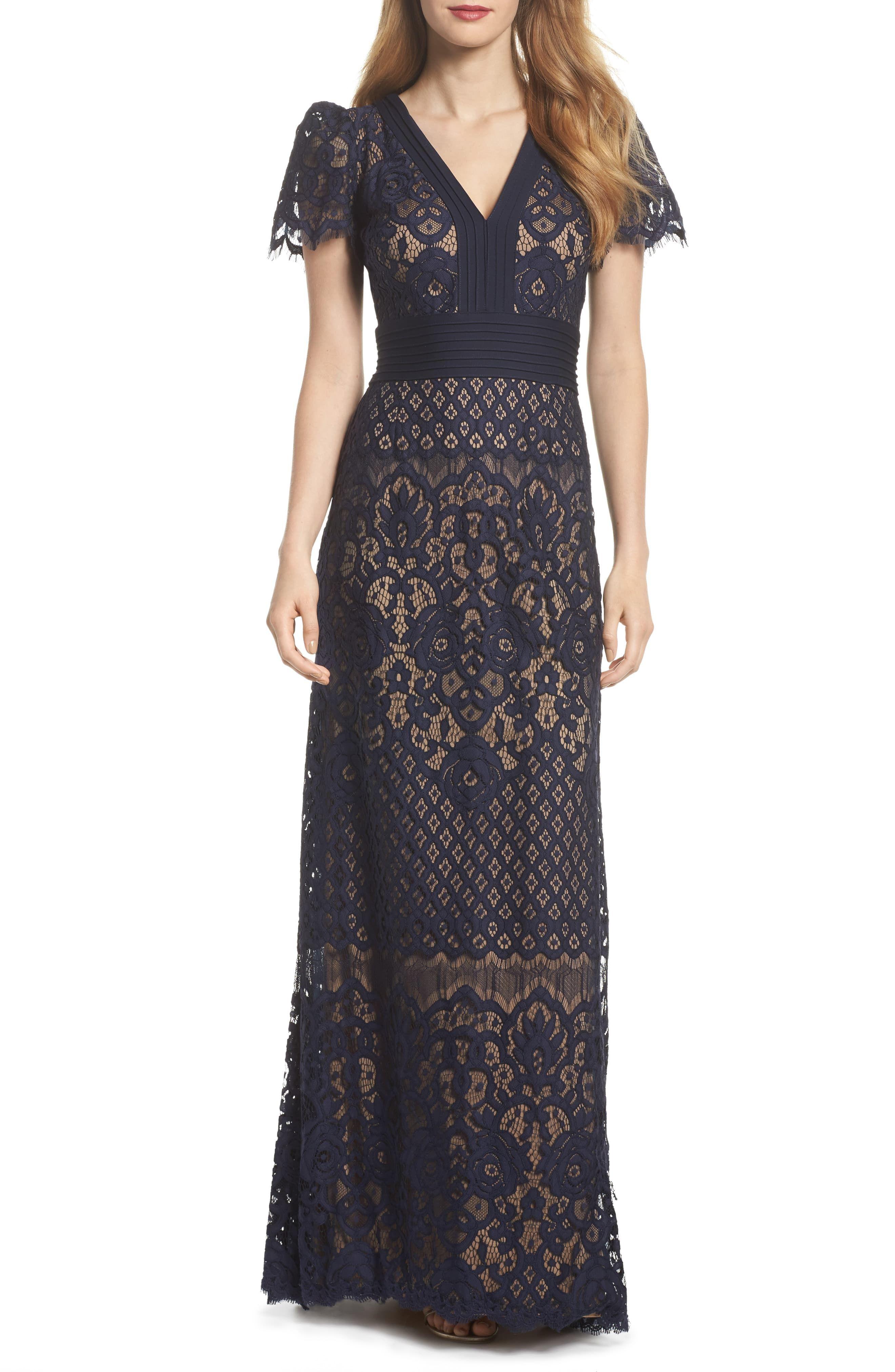 Tadashi Shoji Pintuck Detail Lace Gown Nordstrom Lace Gown Fashion Clothes Women Womens Dresses [ 4048 x 2640 Pixel ]