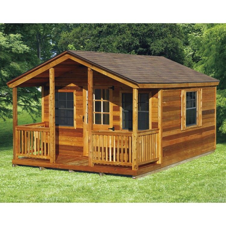 Amish Elite Cabin With Porch Kit - Choose Size