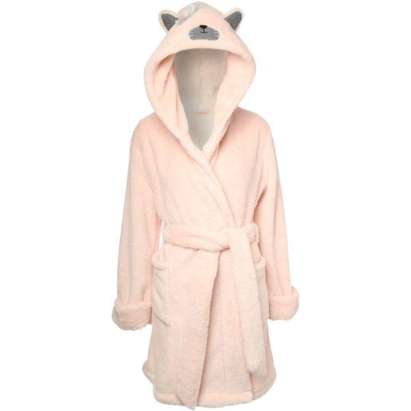 Jane Norman Animal Hood Short Dressing Gown (£15) ❤ liked on ...