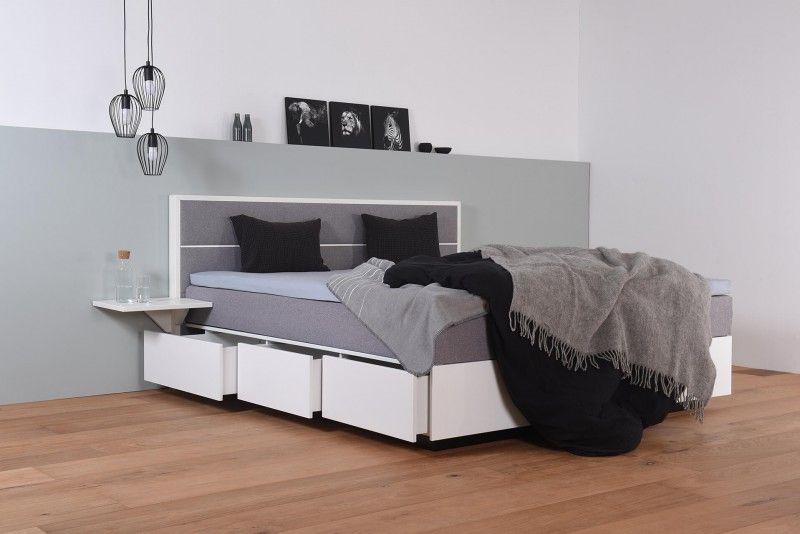 Wasserbett mit Schubkästen in Boxspringoptik + Topper