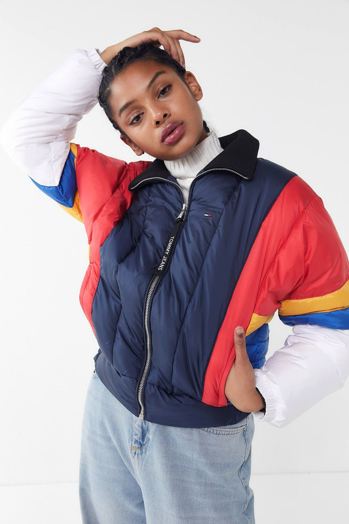 4158c854c67b68 Tommy Jeans Colorblock Puffer Jacket | New Arrivals | Jackets ...