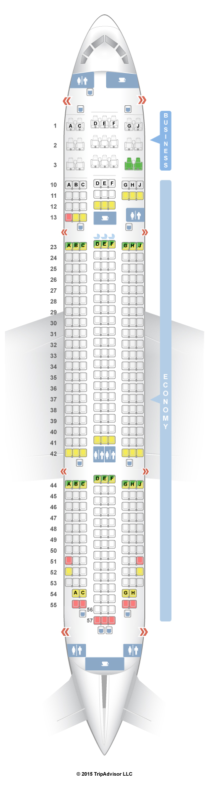 If you need to check specific seats on a plane this is a great - seating chart
