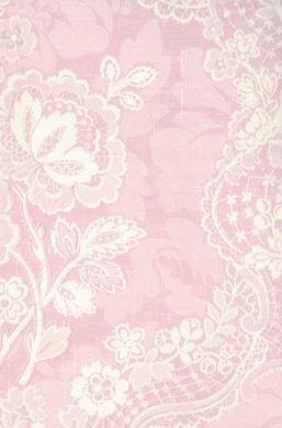 Lace Floral Pink Damask Wallpaper