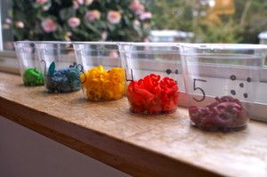 Dyed pasta for sorting by color or shape, beading, pasta art, counting....ect