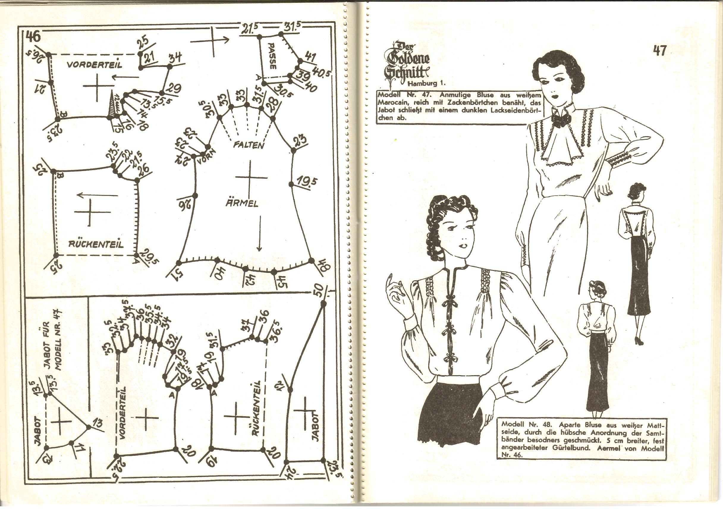 Lutterloh 1939 Book Of Cards - Models Diagram Card Page 46 & 47 ...