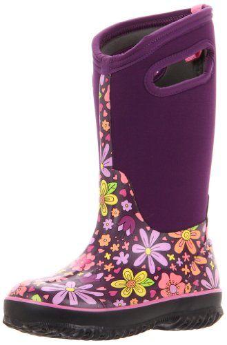Amazon Com Bogs Women S Classic High Handle Waterproof Winter Rain Boot Shoes Winter Boots Women Womens Bogs Womens Boots