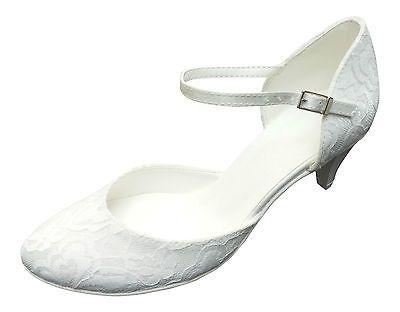 Brautschuhe Hochzeitsschuhe Spitze Schuhe Pumps Hochzeit weiß ivory elfenbein