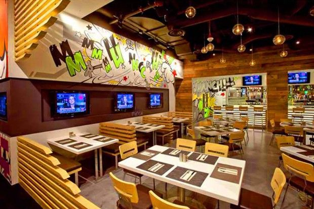 Eccentric Attractive And Colorful Restaurant Interior