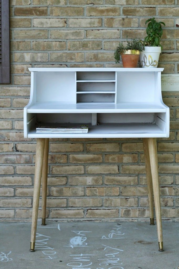 Chic Little Leggy Midcentury Modern Desk - Primitive and Proper