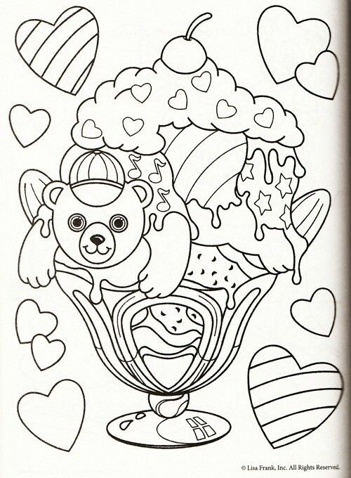 Lisa Frank color sheet   Coloring Pages and Tips✏   Pinterest