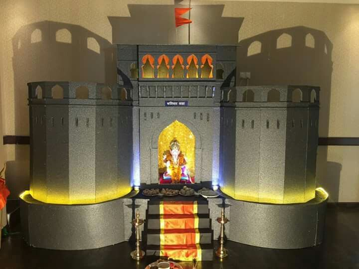 Ganpati Festival Shaniwar Wada Decor Theme At Dubai Festivals Pinterest Dubai