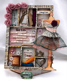 Gorgeous mixed media collage... full of color and texture!