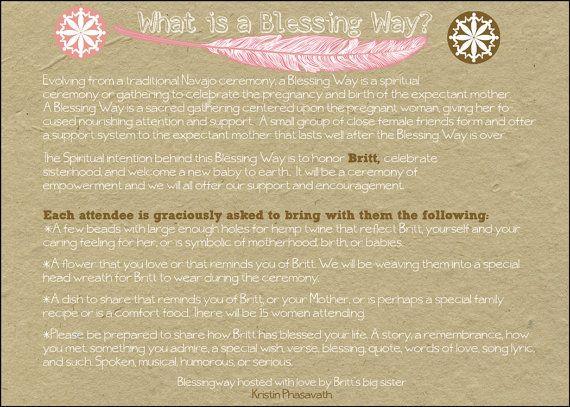 Baby Blessing Invitation Blessing Way Invitation Custom Printable