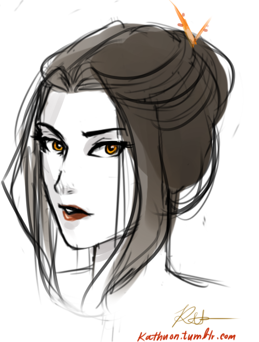Azula. She looks so pretty...why couldn't she look like this the day of her coronation