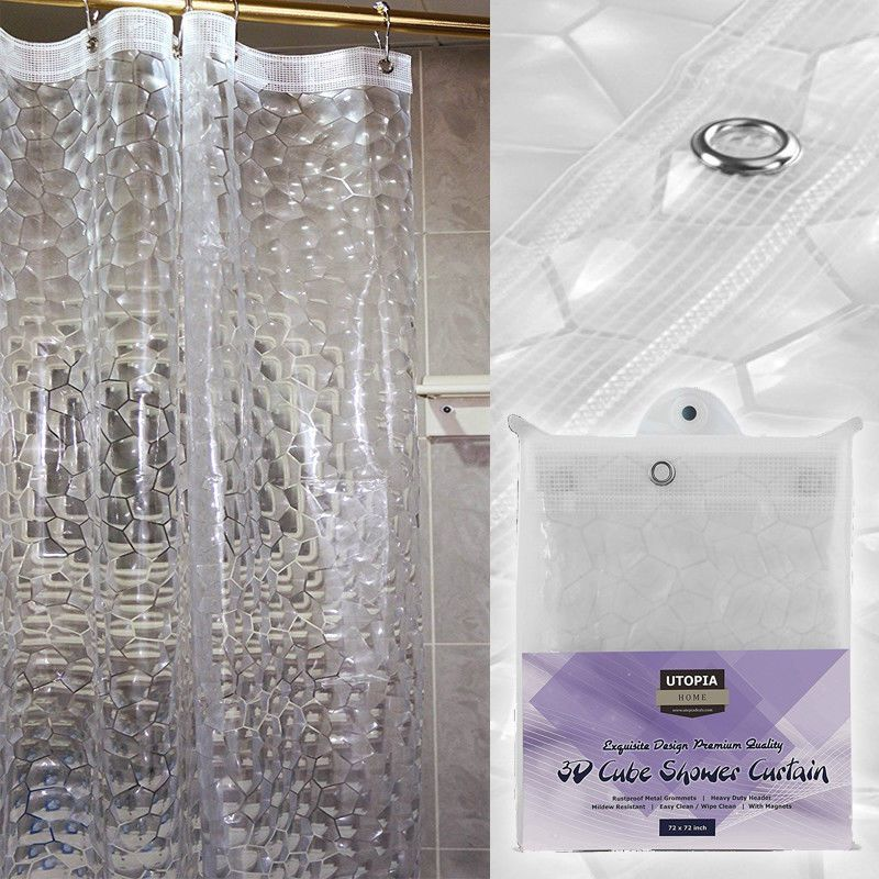 Shower Curtain Water Mildew Resistant 72 X72 Premium Eco Friendly