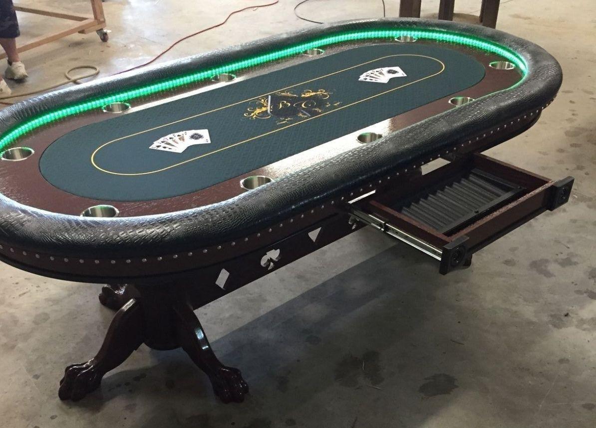 Phenomenal Pin On Poker Tables With Lights Beutiful Home Inspiration Xortanetmahrainfo