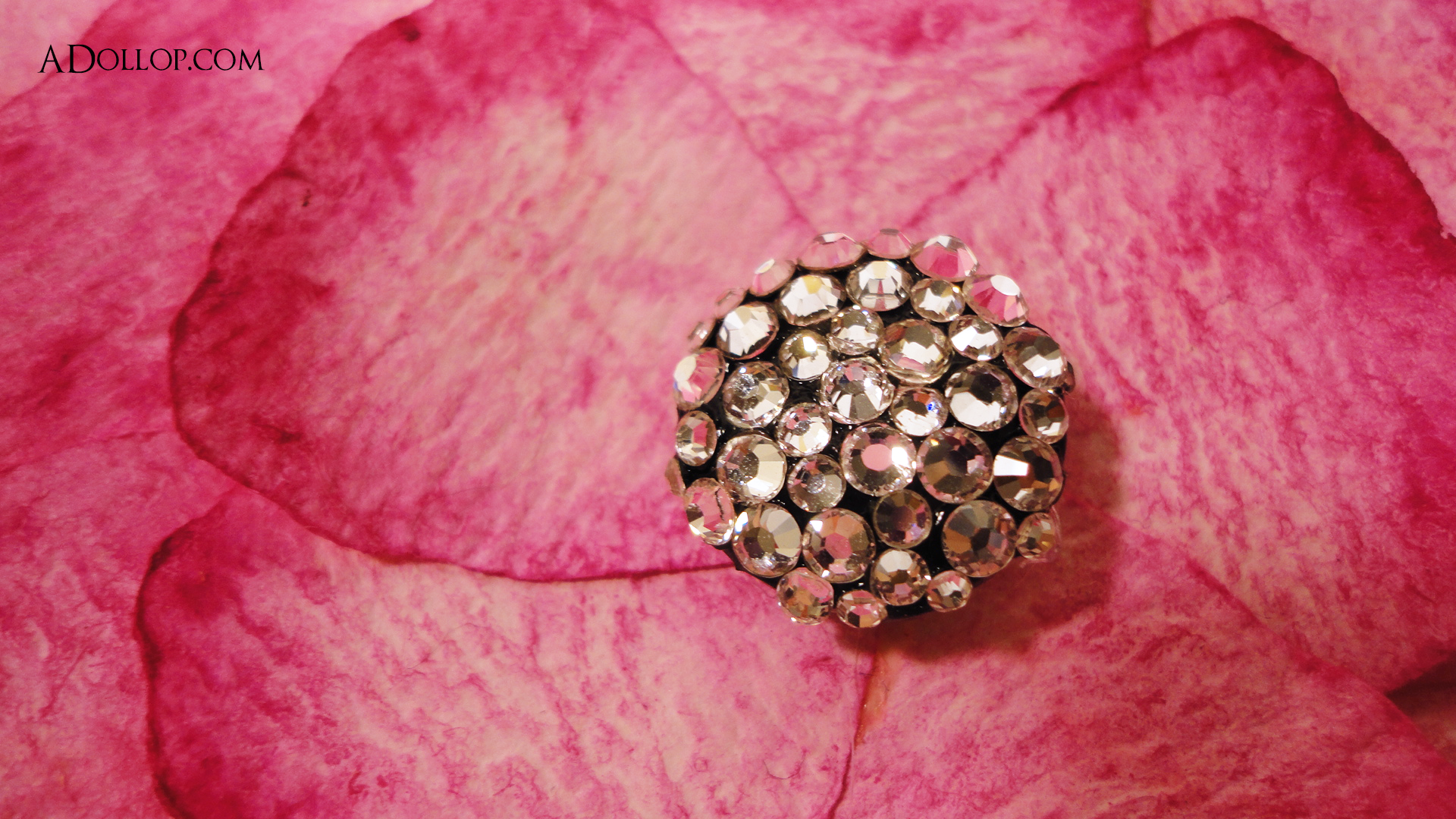 Unique Pink Swarvorski Crystal Flower Boxed Wedding Invitation ...