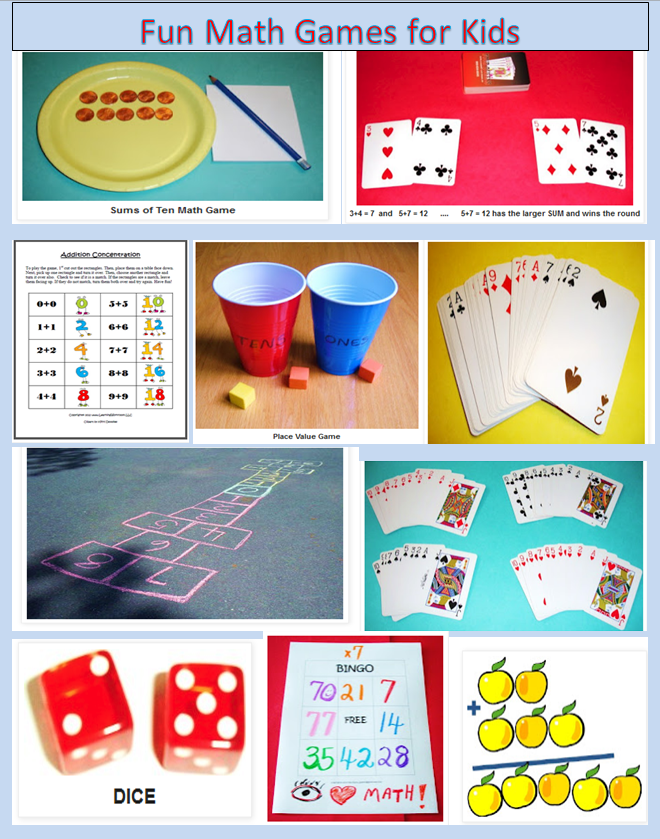 Fun+Math+Games+for+Kids.PNG (660×839) | Math games and activities ...
