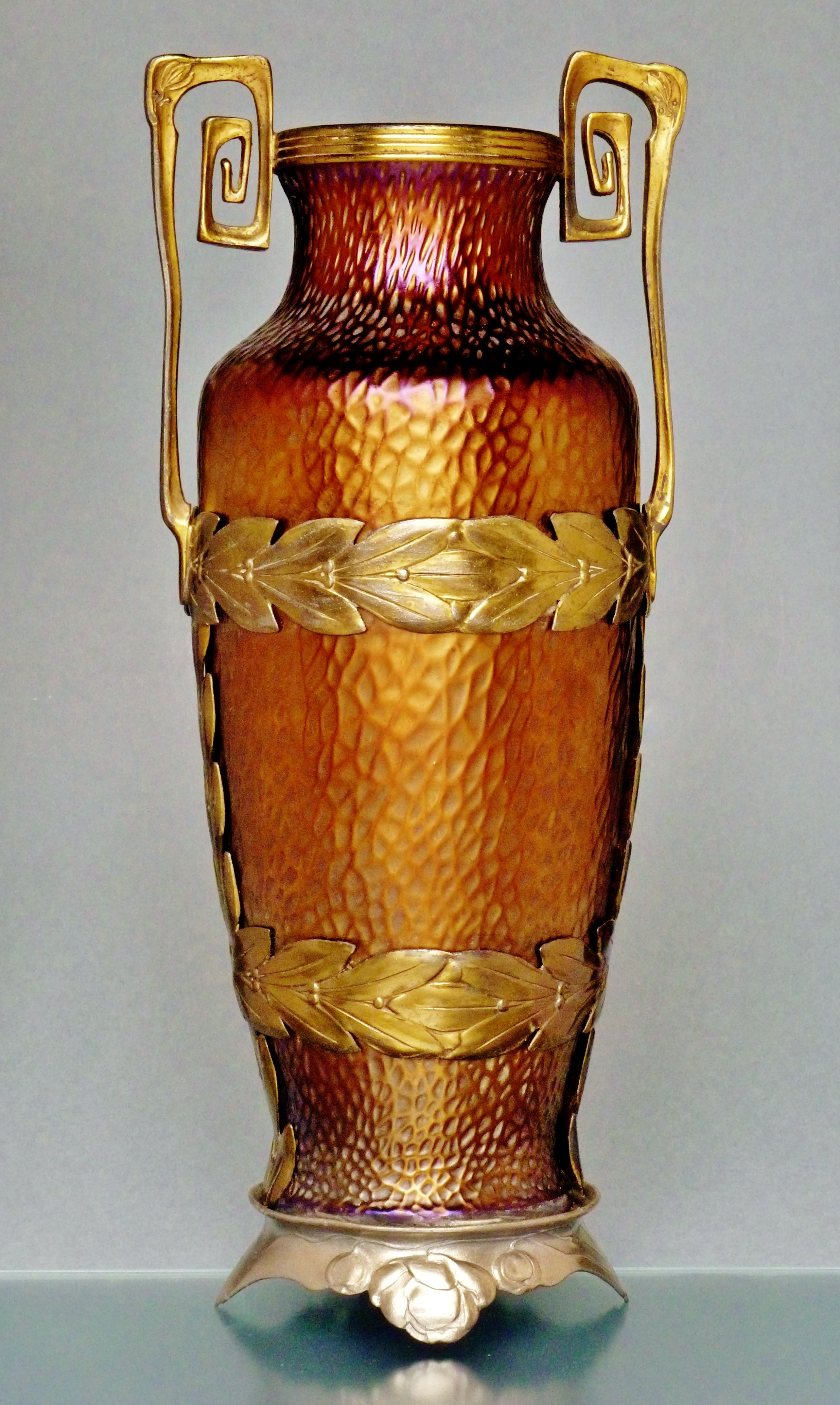 Wilhelm kralik glass vase c 1905 in brass mounting van hauten wilhelm kralik glass vase c 1905 in brass mounting van hauten reviewsmspy