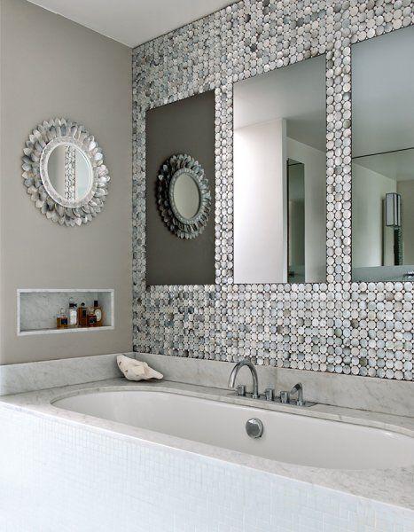 Une salle de bain gris nacr marie claire maison x home sweet home x salle de bain grise - Salle de bain contemporaine grise ...