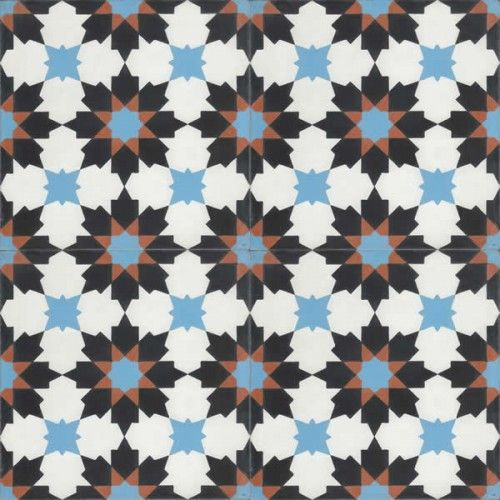 Moroccan Encaustic Cement Pattern Pre Sealed 17a | £ 2.54 | Moroccan Cement Tiles | Best Tile UK | Moroccan Tiles | Cement Tiles | Encaustic Tiles | Metro Subway Tiles | Terracotta Tiles | Victorian Tiles