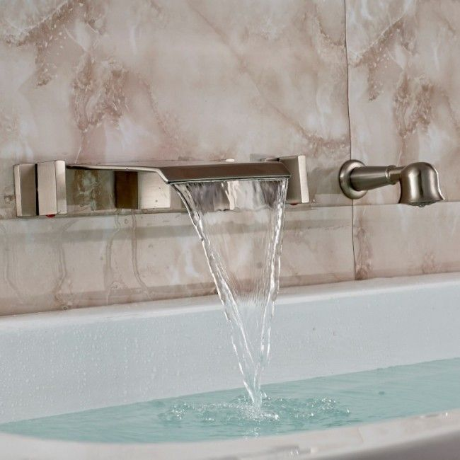Best Of Wall Mount Waterfall Tub Faucet Brushed Nickel Home