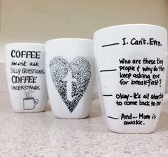 diy best friend sharpie mug Google Search Ideaa Pinterest