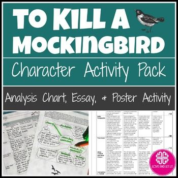009 To Kill a Mockingbird Characters with Analysis, Poster