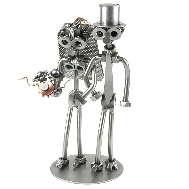 Brautpaar in Ketten Schraubenmännchen