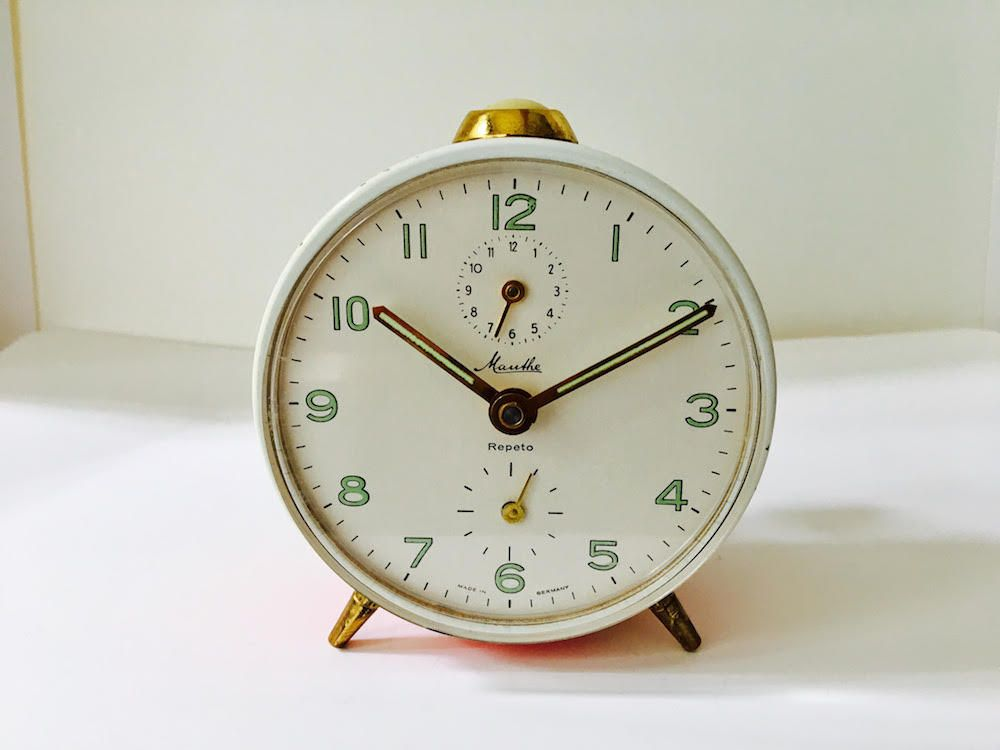 Lovely MAUTHE Repeto Antique Wind Up Table Clock By DareToDreamLiving On Etsy
