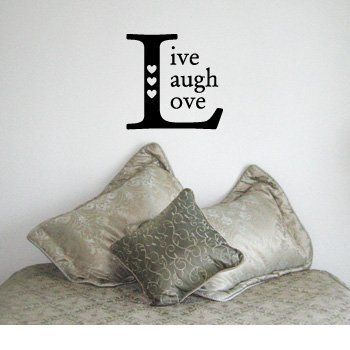 LIVE LAUGH LOVE SQUARE - Family Country Design - Vinyl Wall Room Decal Sticker #W007   Color: Midnight Black by Krafty Kreations, http://www.amazon.com/dp/B002803C3M/ref=cm_sw_r_pi_dp_8.VOqb1CT4RY3