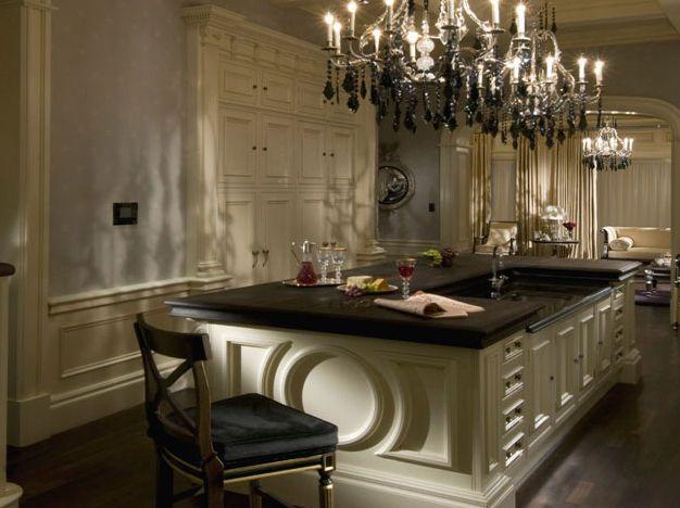 Isla de cocina cl sica cool clive christian casa - Cocinas clasicas elegantes ...