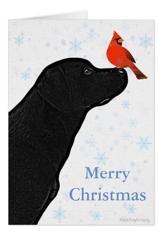 Black Lab Christmas Card C10BLCAR Labrador Christmas Black | Black ...
