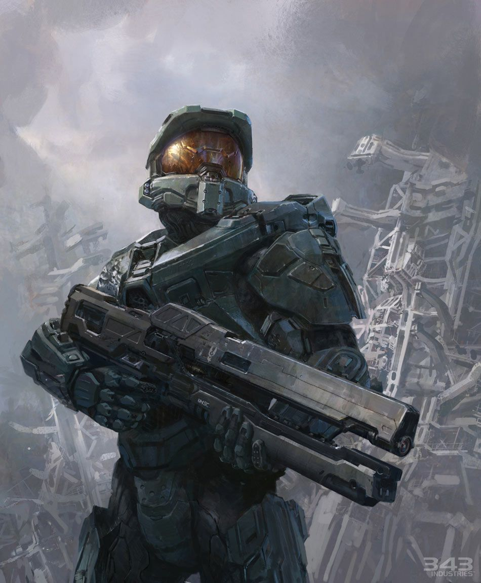 Halo 4 Art Pictures Master Chief With Railgun Halo 4 Halo