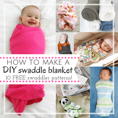 How to Make a Swaddle Blanket with 10 FREE DIY Patterns