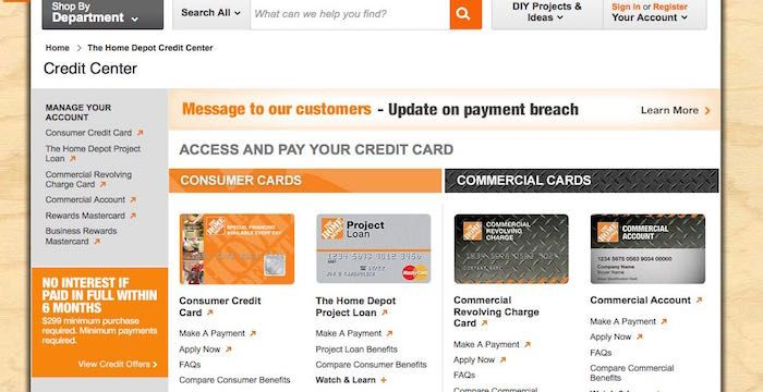Home Depot Bill Pay Login To Homedepot Com Online Payment Paying Bills Home Depot Credit Paying